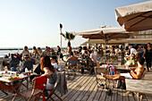 Beach Restaurant and meeting point, Hilton Beach, Tel Aviv, Israel
