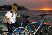 Cycling in The ancient port city of Jaffa, Tel Aviv, Israel