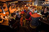 Apres Ski in a pub, Andermatt, Canton Uri, Switzerland