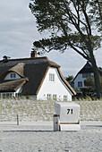 Beach chair, Ahrenshoop, Baltic Sea. Mecklenburg-Western Pomerania. Germany