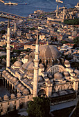 Mosque and Bosphorus strait. Istanbul. Turkey