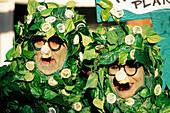 Rubber (condom) trees. Fat Tuesday, New Orleans carnival. Louisiana. USA