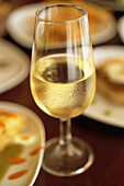 Spain. Andalusia. Jerez. Local cooking tapas, Sherry at the restaurant Gallo Azul