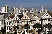 San Francisco Victorian Houses. Alamo Square. San Francisco. California. USA