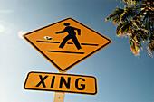 Pedestrian crossing. California. USA
