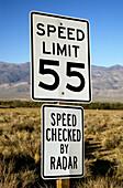 Speed limit sign, California. USA