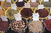 Abundance, Abundant, Arrangement, Basket, Baskets, Color, Colour, Commerce, Concept, Concepts, Cuisine, Detail, Details, Europe, Flavoring, Flavouring, France, Fruit, Fruits, Horizontal, Indoor, Indoors, Inside, Interior, Many, Market, Markets, Nut, Nuts