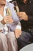 Adult, Adults, Celebrate, Celebrating, Celebration, Celebrations, Champagne, Color, Colour, Companion, Companions, Contemporary, Couple, Couples, Daytime, Detail, Details, Female, Friend, Friends, Friendship, Glass, Glasses, Hand, Hands, Hold, Holding, H