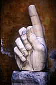 Hand, remains of Constantine s statue. Conservatori Museum. Rome. Italy