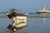 Dhow at low tide. Sur. Oman