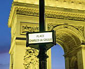 Arc de Triomphe at Charles de Gaulle square. Paris. France