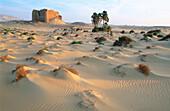 Ruins of Ain Umm Labakha fortress at Kharga oasis. Egypt