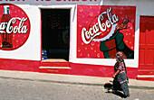 Coca-Cola advertising. Solola. Guatemala