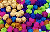 Woollen balls, Guatemala market