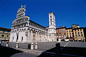 San Michele in Foro church. Lucca. Tuscany. Italy