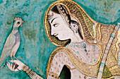 Fresco at Chitra Shala palace. Bundi. Rajasthan. India