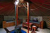 Inside of a yurt. Tov. Mongolia
