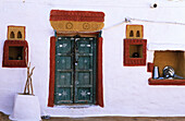 Front of a indian house. Barmer. Rajasthan. India