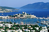 Bodrum, castle and harbour. Turkey