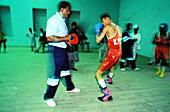 Shiddi boxing club. Lyari district, Karachi. Sindh province, Pakistan