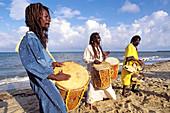 The Original Turtle Shell Band, group of Garifuna musicians. Dangriga, Stann Creek district, Belize