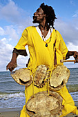 The Original Turtle Shell Band, group of Garifuna musicians. Dangriga, Stann Creek, Belize