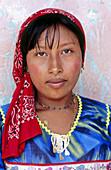 Kuna Indian woman. San Blas archipielago. Panama