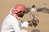 Dubaï Emirate. Eagle hunting. United Arab Emirates.