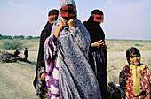 Traditional mask. Persian Gulf area. Iran