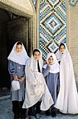 School girls. Mahan. Kerman province. Iran