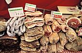 Charcuterie. Gastronomy. Pays Basque. Pyrénées Atlantiques (64). France.