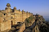 Singh Man singh Palace. Walls of fort. Gwalior. Madhya Pradesh, India