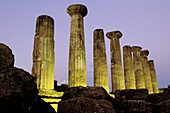 Hercules (Herakles) Temple. Valley of temples. Agrigento. Sicily. Italy.
