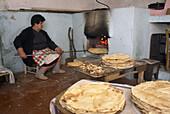 Traditional baked bread, Mamoiada. Nuoro province, Sardinia, Italy