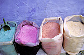 Color powder for painting, Chefchaouen. Rif region, Morocco