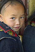 Vietnam. North Vietnam. Sapa area. Children from Black Hmong ethnic group.
