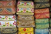 Indonesia. Bali. Handicraft at Ubud. Offering box.