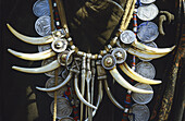 Necklace made with deer tooth. Magar ethnic group. Rukum region. Nepal.
