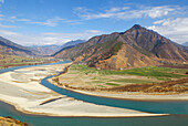 China. Yunnan province. The first bend of the Yangtze River.
