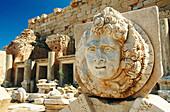 Relief of Medusa at Roman Forum. Leptis Magna. Libya