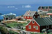 Jakobshavn (Ilulissat, Inuit town). Greenland