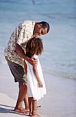 -American, Back view, Beach, Beaches, Bond, Bonding, Bonds, Child, Children, Coast, Coastal, Color, C