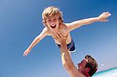 Blue, Blue sky, Bond, Bonding, Bonds, Boy, Boys, Caucasian, Caucasians, Child, Childhood, Children