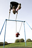 Action, Adverse, Amusement, Bottom, Child, Childhood, Children, Color, Colour, Contemporary, Contrary, Daytime, Different, Down, Exterior, Flight, Flights, Fly, Flying, Full-body, Full-length, Fun, High, Highs and lows, Human, Imagination, Infantile, Kid
