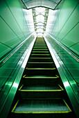 Ascend, Ascending, Cities, City, Color, Colour, Concept, Concepts, Escalator, Escalators, Indoor, Indoors, Inside, Interior, Nobody, Perspective, Up, Urban, Vertical, F58-197158, agefotostock