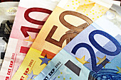 Background, Backgrounds, Banknote, Banknotes, Bill, Bills, Cash, Close up, Close-up, Closeup, Color, Colored, Colorful, Colors, Colour, Coloured, Colourful, Colours, Commerce, Concept, Concepts, Currency, Detail, Details, Different, Economy, EU, Euro, Eu