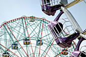 Amusement, Amusement park, Amusement parks, Amusements, Big wheel, Big wheels, Childhood, Color, Colour, Contemporary, Daytime, Detail, Details, Empty, Exterior, Fair, Fairground, Fairs, Ferris wheel, Fun, Funfair, Funfairs, Horizontal, Infantile, Leisur
