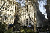 Madison Square Park, location of the original Madison Square Garden, Manhattan, New York City, USA.