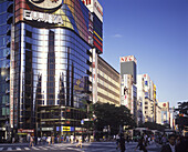 Street scene, Harumi dori Avenue, Ginza, Tokyo, Japan.