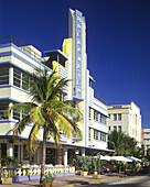 Street scene, Ocean drive, Miami beach, Miami, Florida, USA.